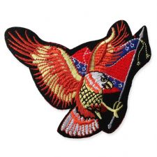 EAGLE FLAG MOTIF IRON ON EMBROIDERED PATCH APPLIQUE